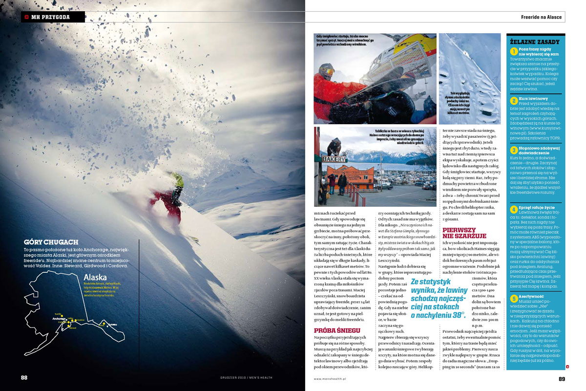 Mens Health, Poland. Article about Alaska.