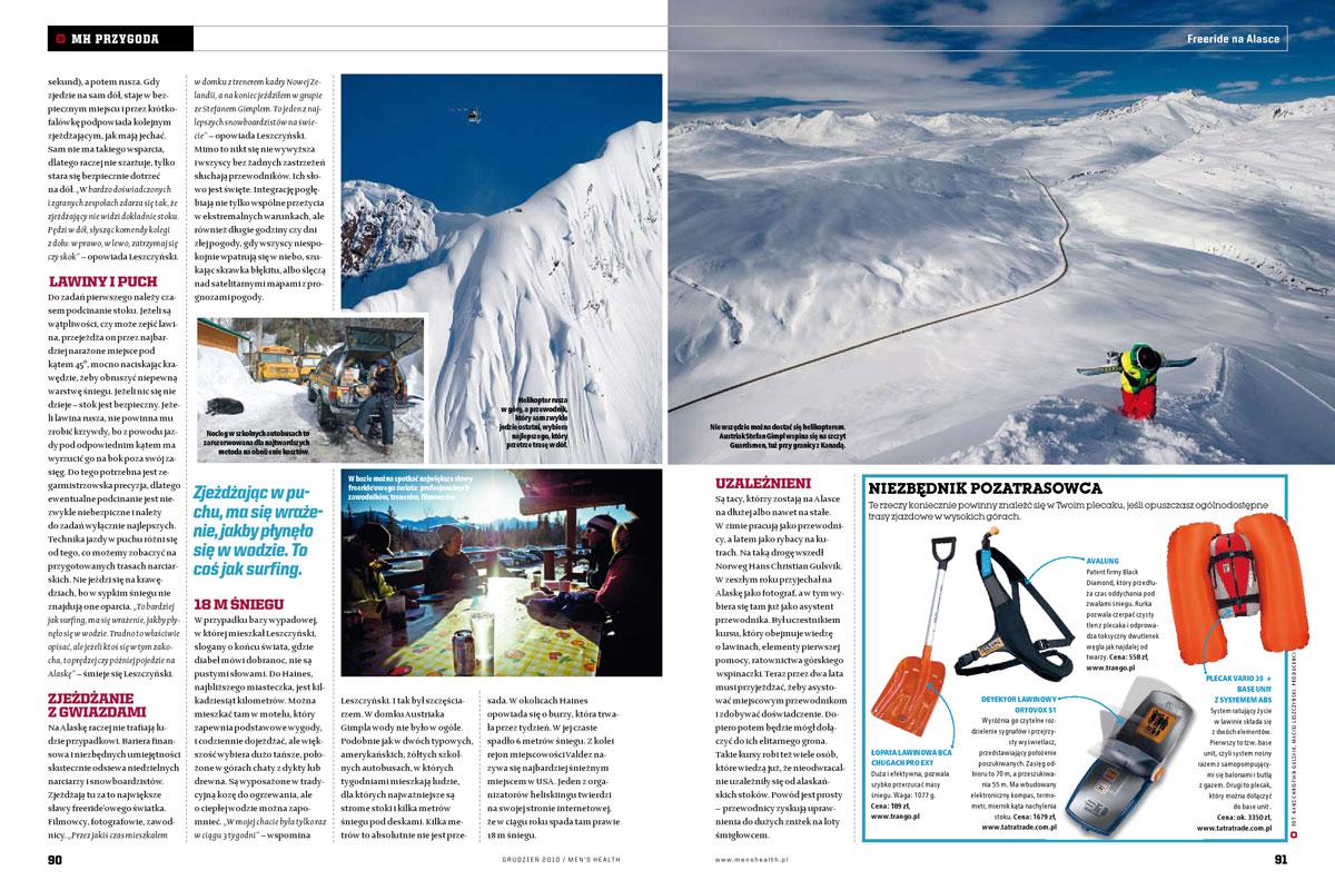 Mens Health, Poland. Article about Alaska.